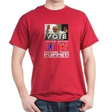 Vatican Puppets Romney vs Obama T-Shirt
