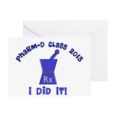 pharmD class of 2013 I did it.PNG Greeting Card