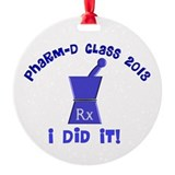 pharmD class of 2013 I did it.PNG Round Ornament