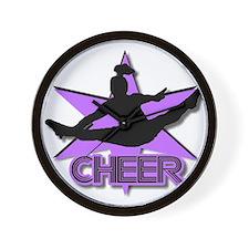 Cheerleader in purple Wall Clock