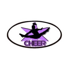 Cheerleader in purple Patches