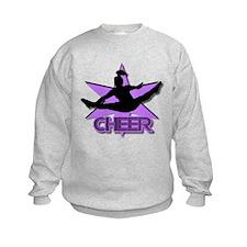 Cheerleader in purple Sweatshirt
