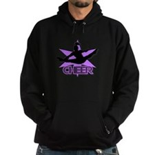 Cheerleader in purple Hoody
