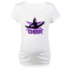 Cheerleader in purple Shirt