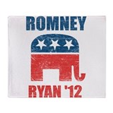 Romney Ryan 2012 Throw Blanket