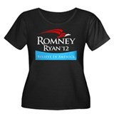 Romney/Ryan 2012 Women's Plus Size Scoop Neck Dark