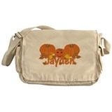 Halloween Pumpkin Jayden Messenger Bag