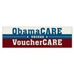 ObamaCare vs VoucherCare Sticker (Bumper)