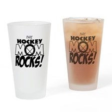 This Hockey Mom Rocks copy.png Drinking Glass