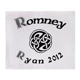 Romney Ryan Celtic 2012 Throw Blanket