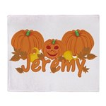 Halloween Pumpkin Jeremy Throw Blanket
