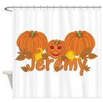 Halloween Pumpkin Jeremy Shower Curtain