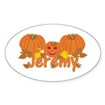 Halloween Pumpkin Jeremy Sticker (Oval)