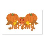 Halloween Pumpkin Jeremy Sticker (Rectangle)