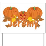 Halloween Pumpkin Jeremy Yard Sign