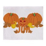 Halloween Pumpkin Jim Throw Blanket