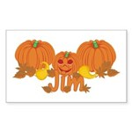 Halloween Pumpkin Jim Sticker (Rectangle)