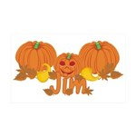 Halloween Pumpkin Jim 35x21 Wall Decal