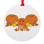 Halloween Pumpkin Jim Round Ornament