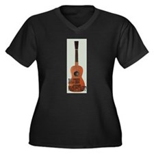 Luthier shirt 2 Women's Plus Size V-Neck Dark T-Sh