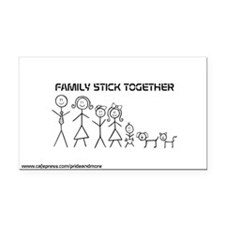 Family Stick TogetherRectangle Car Magnet
