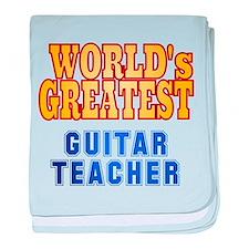 World's Greatest Guitar Teacher baby blanket