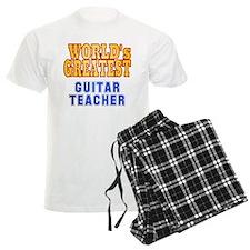 World's Greatest Guitar Teacher pajamas