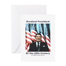 Ronald Reagan - Greatest w Flags Greeting Card