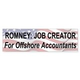 Romney: Job Creator Bumper Sticker