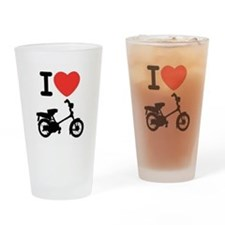I Heart Mopeds Drinking Glass