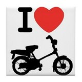 I Heart Mopeds Tile Coaster