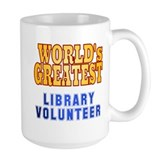 World's Greatest Library Volunteer Mug