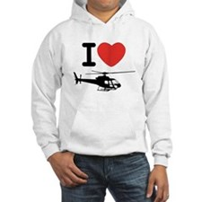 I Heart Helicopter Hoodie