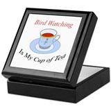 Bird Watching is my cup of tea Keepsake Box