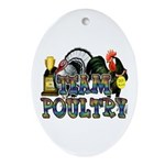 Team Poultry Ornament (Oval)