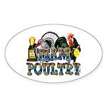Team Poultry Sticker (Oval 50 pk)