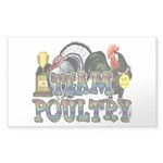 Team Poultry Sticker (Rectangle)