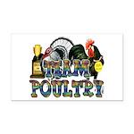 Team Poultry Rectangle Car Magnet