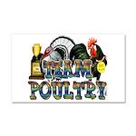 Team Poultry Car Magnet 20 x 12