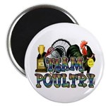 """Team Poultry 2.25"""" Magnet (100 pack)"""
