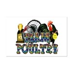 Team Poultry Mini Poster Print