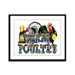 Team Poultry Framed Panel Print