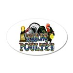 Team Poultry 35x21 Oval Wall Decal