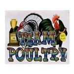 Team Poultry Throw Blanket