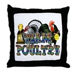 Team Poultry Throw Pillow