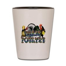 Team Poultry Shot Glass