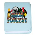 Team Poultry baby blanket
