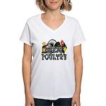 Team Poultry Women's V-Neck T-Shirt