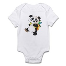 Panda bear with backpack Infant Bodysuit