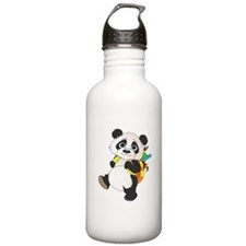 Panda bear with backpack Water Bottle
